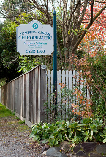 the signpost at Jumping Creek Chiropractic